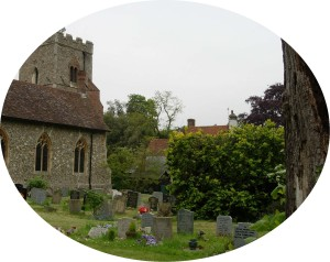 old headstones at St Martin's