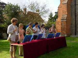 Handbells at the Flower Festival