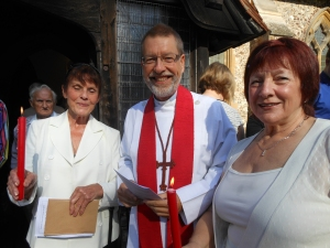 Jan & Viv with the Rector